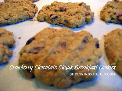 Cranberry Chocolate Chunk Breakfast Cookies