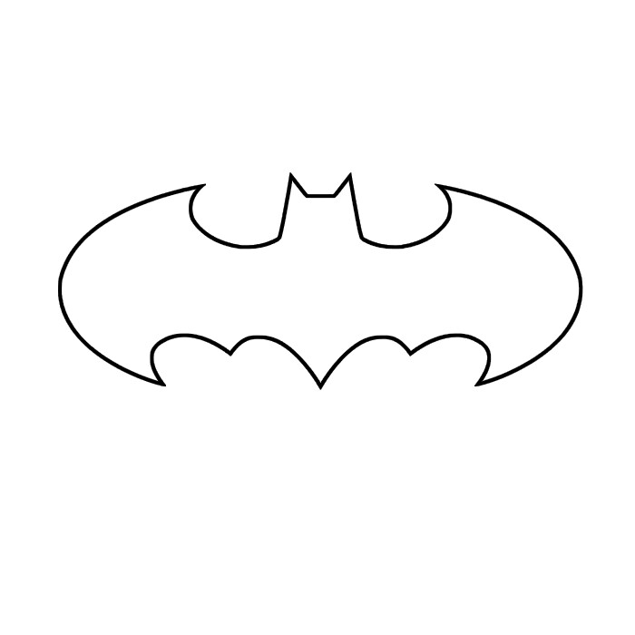 batman logo cake template - max california stencils templates