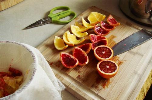 Making Of Blood Orange Meyer Lemon Marmalade