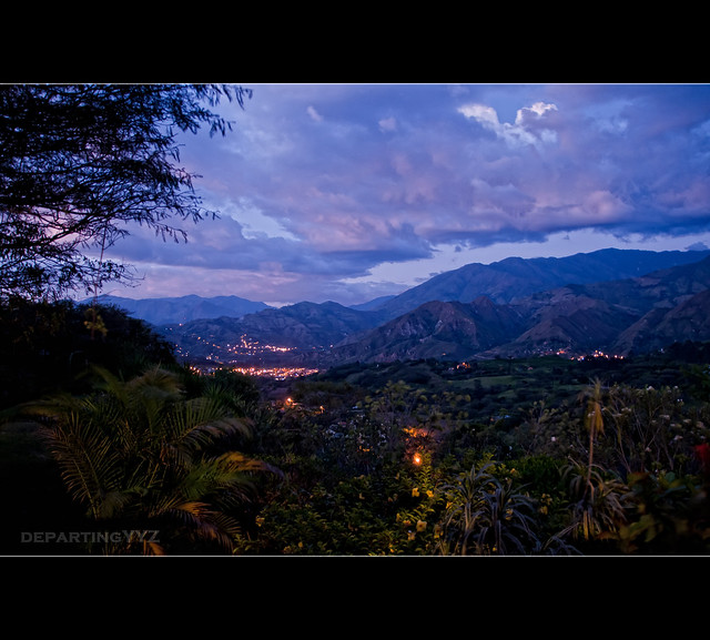 Evening set over Vilcambamba (Ecuador)