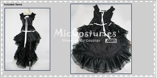 Chobits Chi Black Dress Cosplay Costume_1