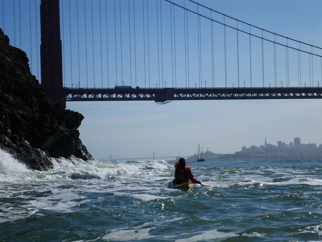 paddling back