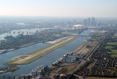 Aerial shot of London City Airport (3)