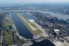 Aerial shot of London City Airport (6)