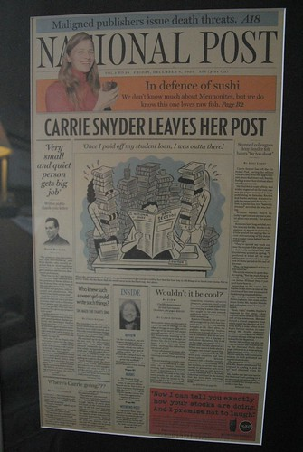 fake front page from Dec. 8, 2000