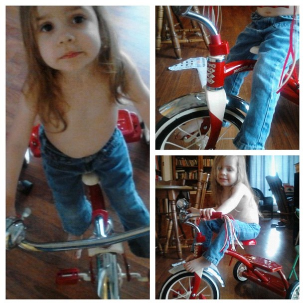 """Sarah's new """"bike""""."""