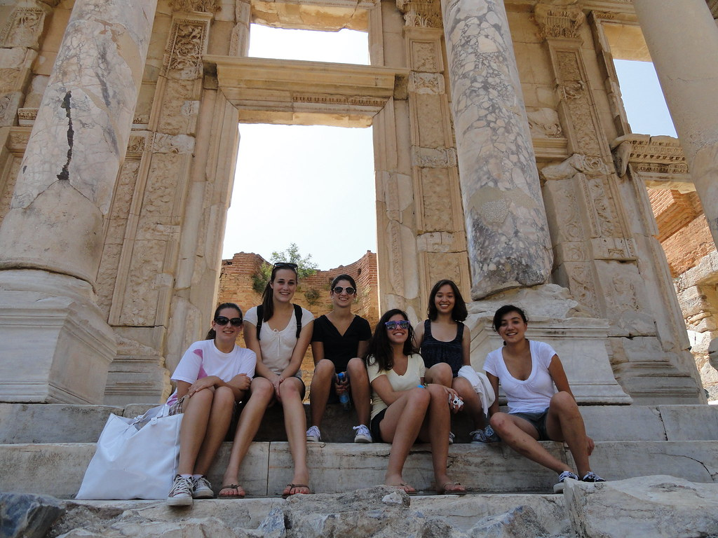 Palo Alto Chamber Orchestra members at Ephesus in Turkey