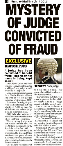 Judge convicted of fraud Sunday Mail March 11 2012