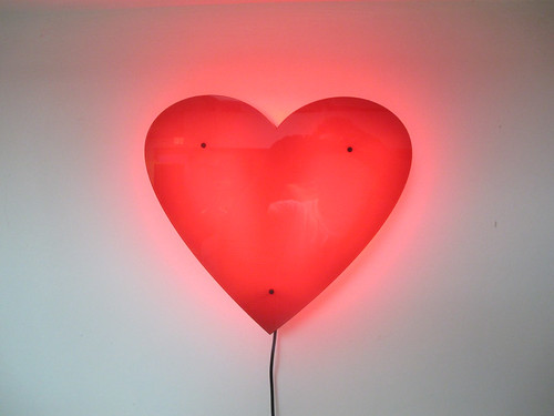 LED heart (lit view)