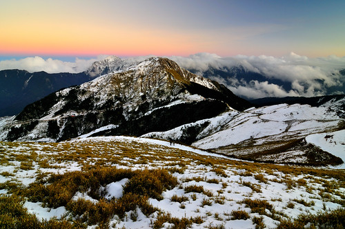 Nightfall at Mt. Hehuan 合歡冬雪 @合歡山