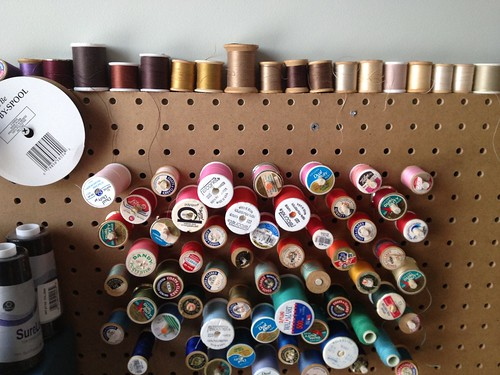 Sewing pegboard
