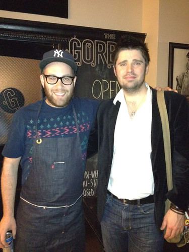 My brother Greg w Chef Ilan hall