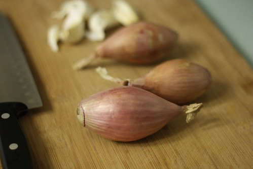Shallots and garlic