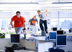 Parkour at O2HQ: Flexibly working