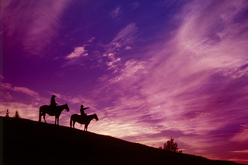 Beautiful Sunset While Horseback Riding