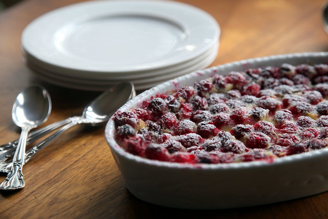 Cranberry Clafouti with Plates