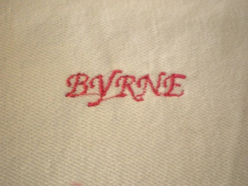 Machine Embroidered Byrne