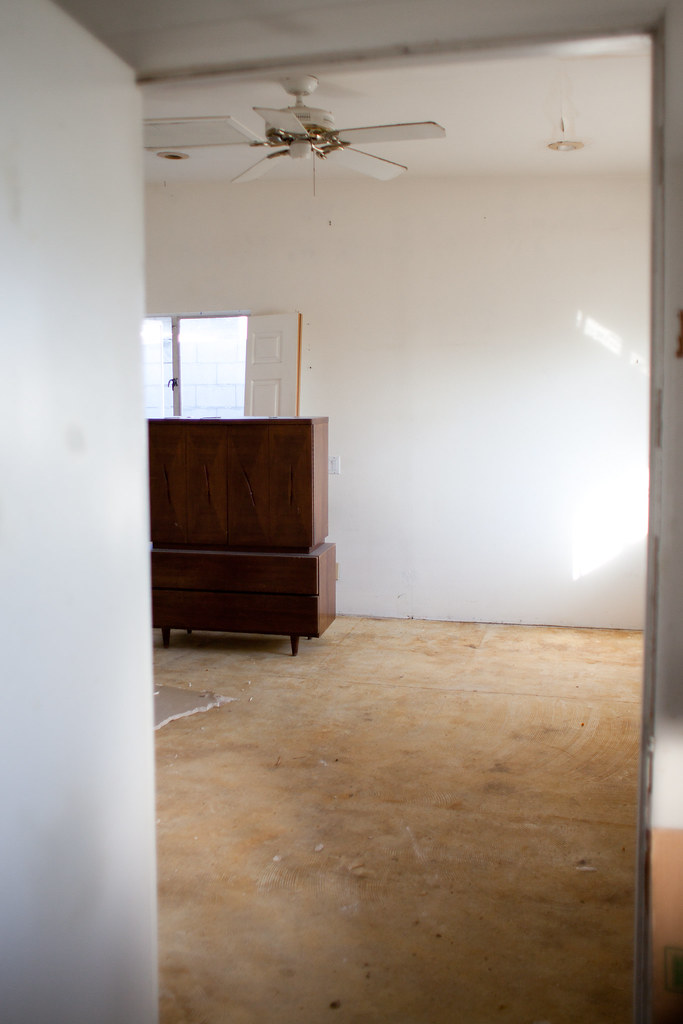 New master bedroom - after the dumpster