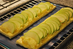 Banda de hojaldre y manzanas (6)