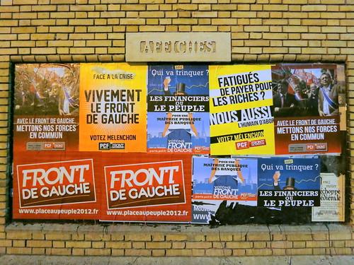 Affiches du Front de Gauche