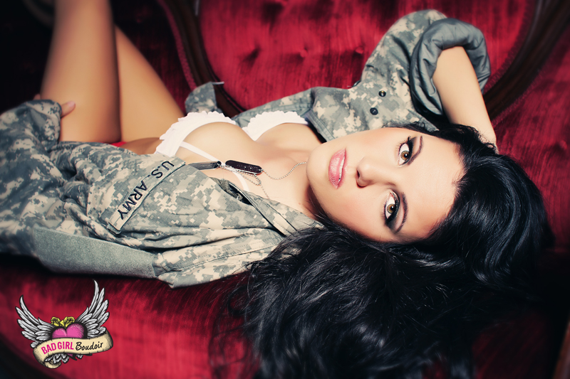 Boudoir & Pinup for Military Fiance // Army Boudoir Photography