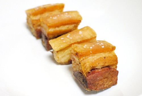 sous vide pork belly confit