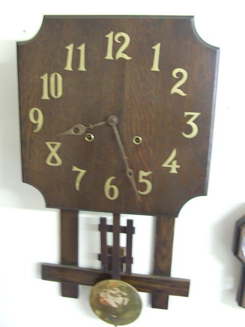 Mission oak arts crafts wall clock 75 1 of 2 flickr for Arts and crafts style wall clock