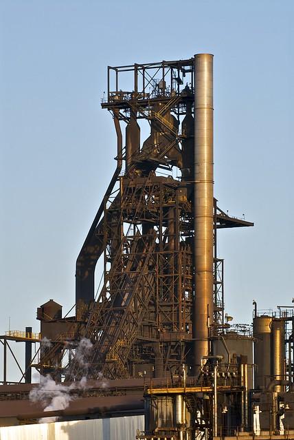 Number 7 Blast Furnace : Number seven blast furnance essar steel algoma sault ste