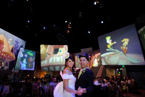 Disney California Adventure Wedding, Animation Building, DCA, Disney Bride and Groom by PBandJDisney