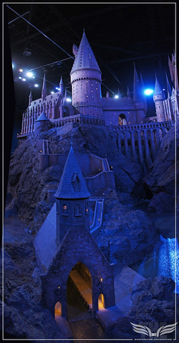 The Establishing Shot: The Making of Harry Potter Tour - Model Room Hogwarts Castle Model at night Boathouse path & Boathouse by Craig Grobler