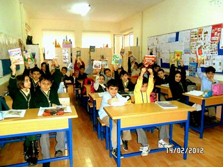 a class book exchange in Turkey