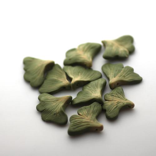 Ginkgo Leaf Beads
