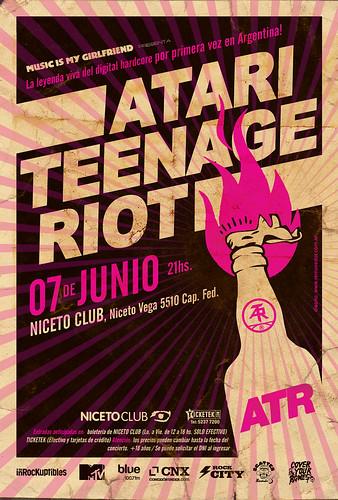 Flyer Atari Teenage Riot