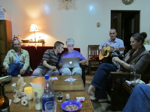 The party at Liz and Marion's. We sang some songs.