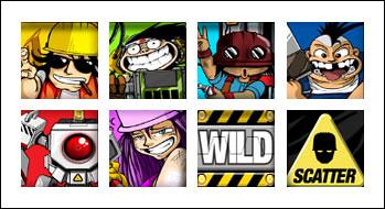 free Demolition Squad slot game symbols