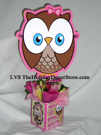 Small Owl Look Whoo Turning One Birthday Personalized Centerpiece Polka Dots First Leaves Background Decorations Handmade Character Girl Party