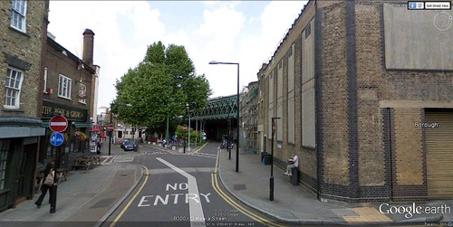 the building on the right would be transformed (via Google Earth)