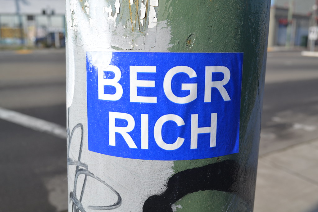 BEGR, RICH, Sticker, Oakland, Street Art,