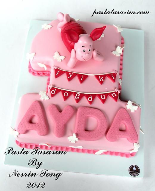 PIGLET CAKE - 1ST BIRTHDAY CAKE