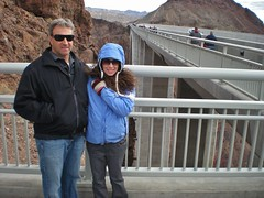 Ron and Rachel at the Memorial Bridge