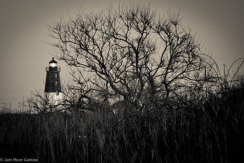 Point Judith in Black and White by Jerri Moon Cantone