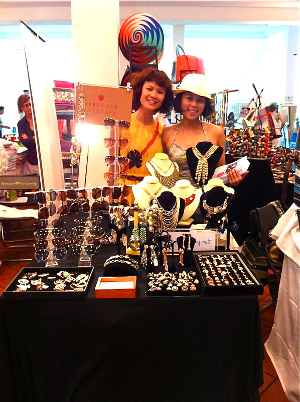 GDO and Curly Sue Vintage selling vintage jewellery and sunglasses at a two-day event, Boutiques @ Fort Canning!