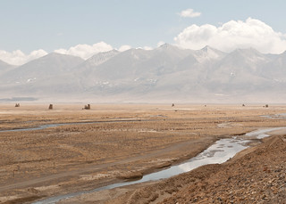 Ruined fortresses across the Tibetan plateau