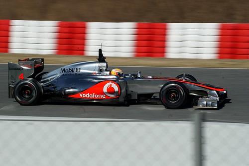 Lewis Hamilton en Montmeló 2012