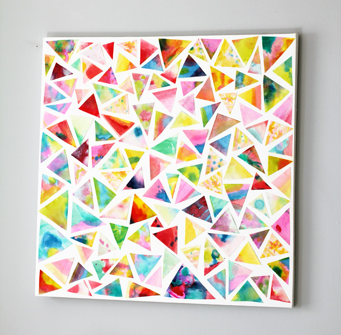 Mod Podge Wall Art | Cool Home Decor Wall Art Ideas for You to Craft | wall art | abstract art