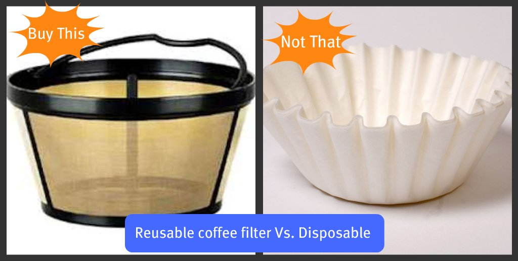 Buy This, Not That: Reuseable Coffee Filter Vs. Disposable Coffee Filter