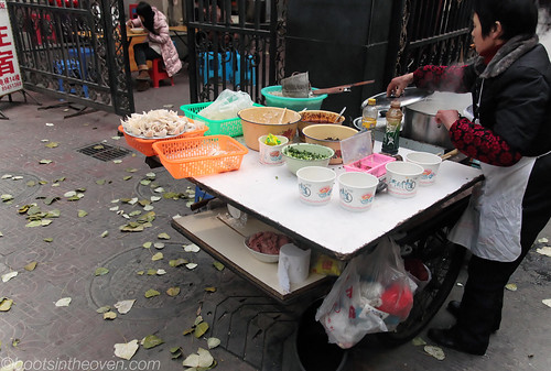 Street Soup Noodle Wonton Lady