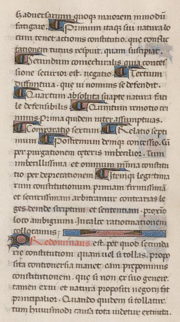 110v - Cod. Bodmer 176 (Rhetorica - 1471)