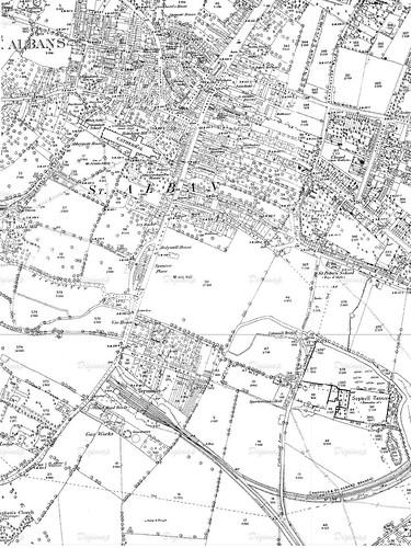 Holywell House 1880 OS