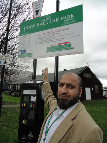 Councillor Hussain at the start of the campaign